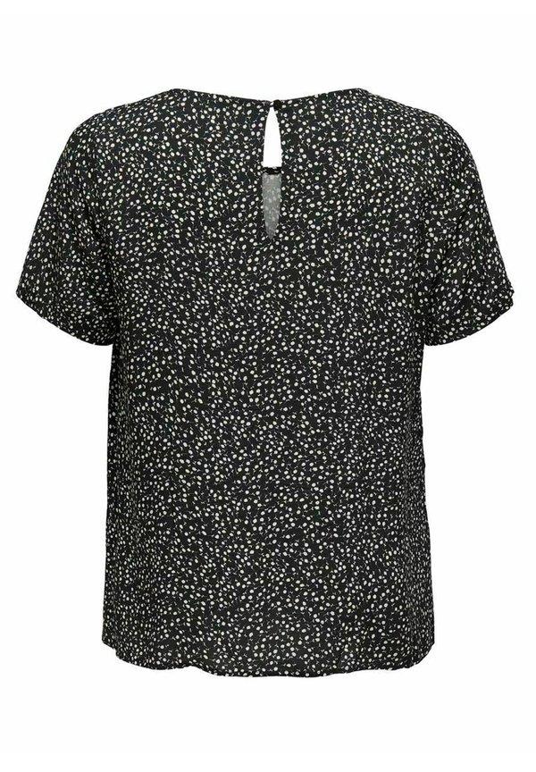 ONLY Carmakoma LOOSE FIT - Bluzka - black/czarny OPHS