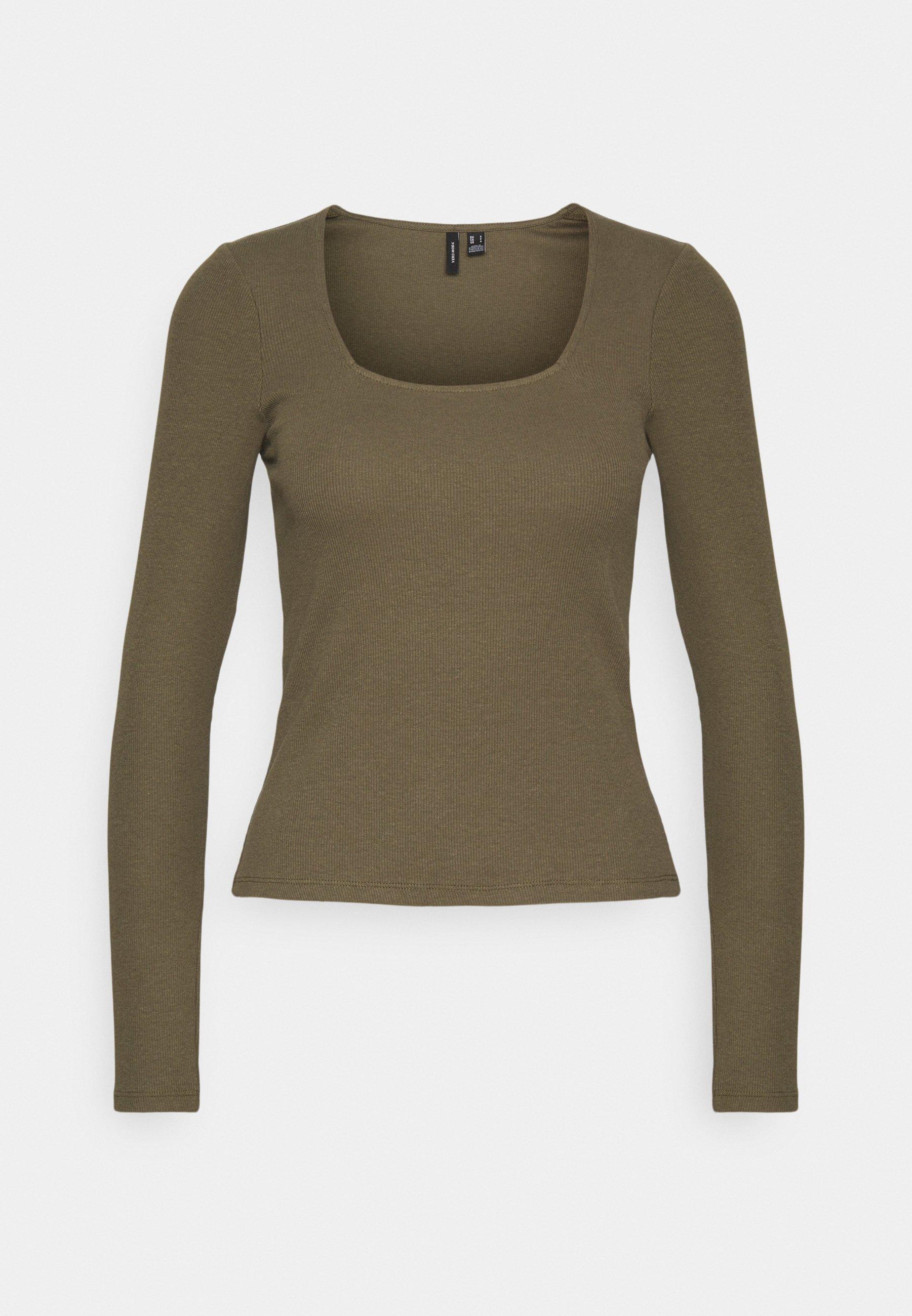 Femme VMNEWAVA SQUARE NECK - T-shirt à manches longues