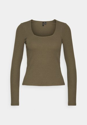 VMNEWAVA SQUARE NECK - Long sleeved top - ivy green