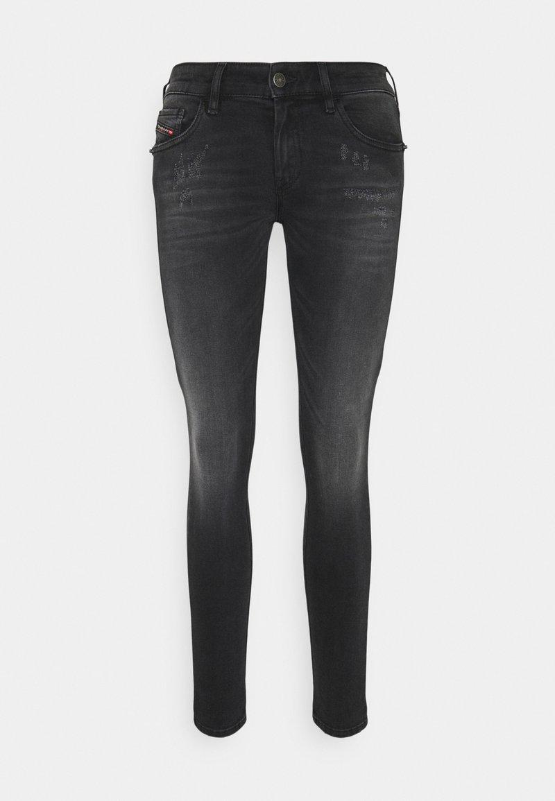 Diesel - SLANDY LOW - Jeans Skinny Fit - grey
