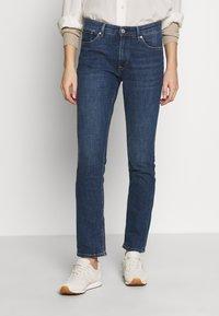 s.Oliver - LANG - Slim fit jeans - blue denim - 0