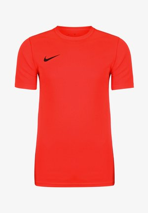 DRI-FIT PARK - Basic T-shirt - bright crimson / black