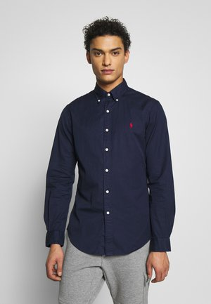 SLIM FIT - Skjorta - cruise navy