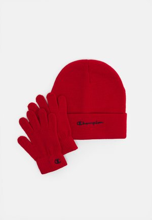 GIFT SET UNISEX - Bonnet - red