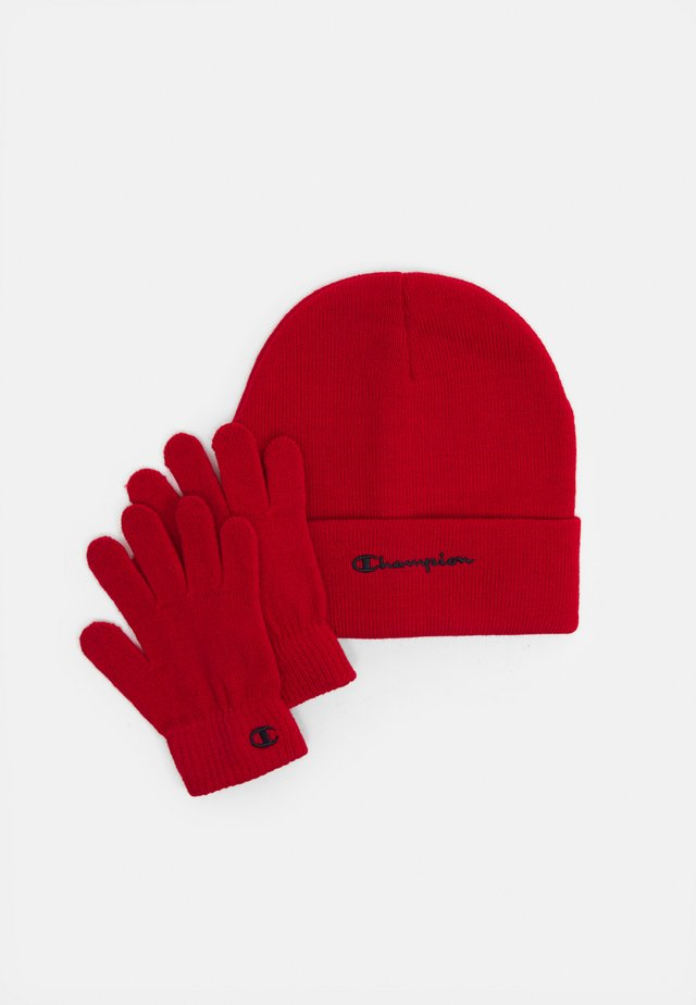 GIFT SET UNISEX - Beanie - red
