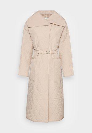 CALLAS QUILTED COAT - Classic coat - powder beige
