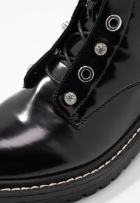 ONLY SHOES - ONLBOLD LACE UP BOOTIE - Lace-up ankle boots - black - 2