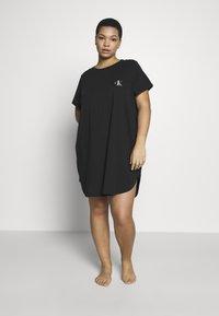 Calvin Klein Underwear - ONE LOUNGE NIGHTSHIRT - Chemise de nuit / Nuisette - black - 1