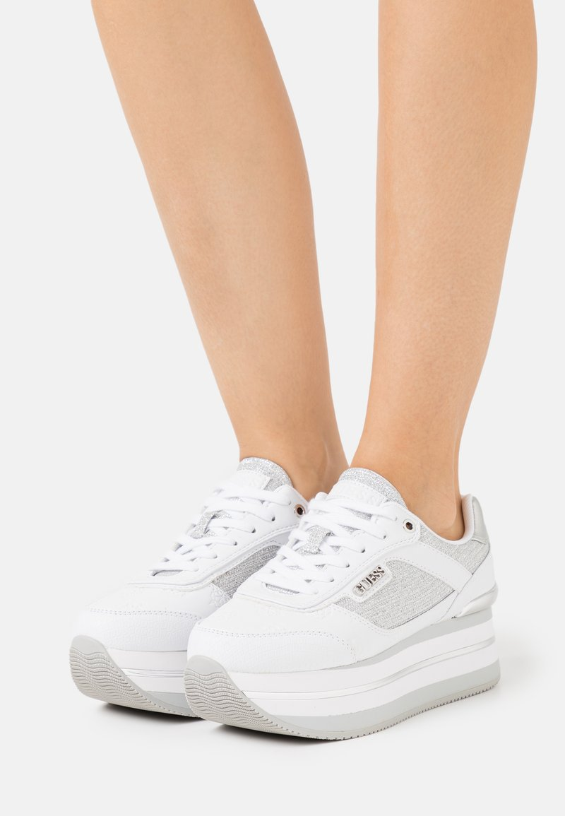 Guess - HANSIN - Trainers - white/silver