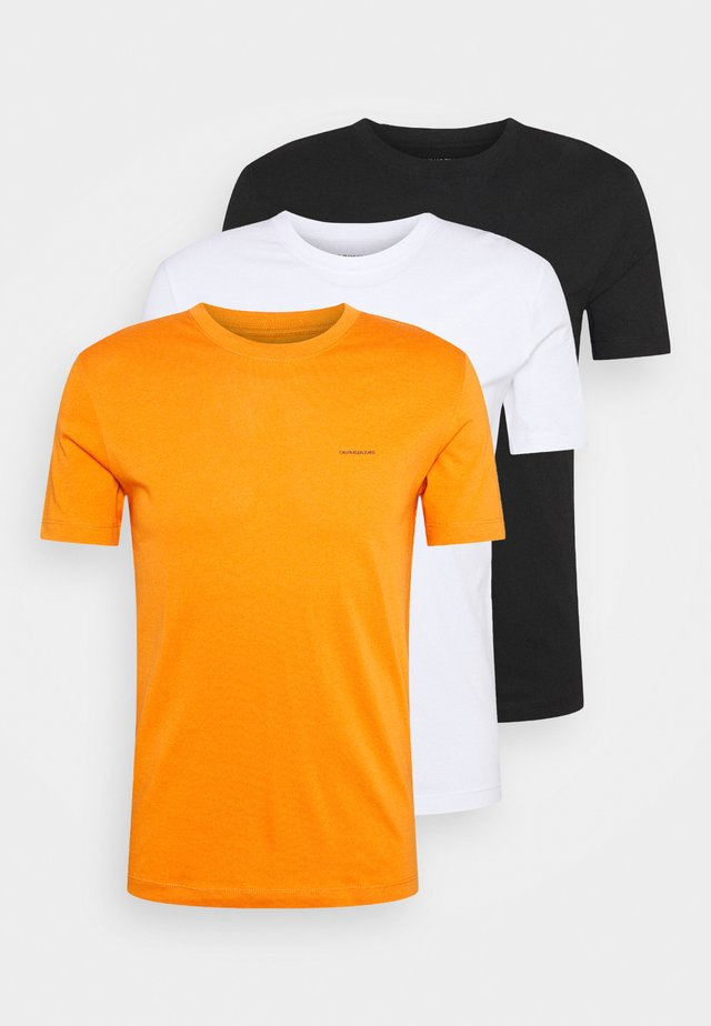 3 PACK TEE - T-shirt basic - orange/black/white