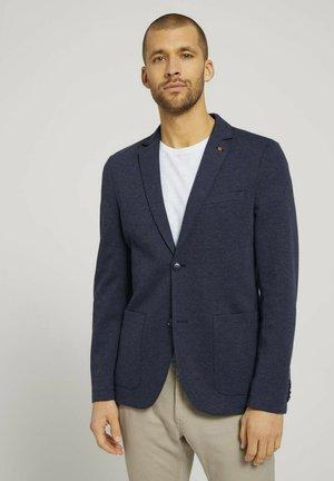 Blazer jacket - after dark blue white melange