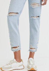 PULL&BEAR - Straight leg jeans - mottled royal blue - 3