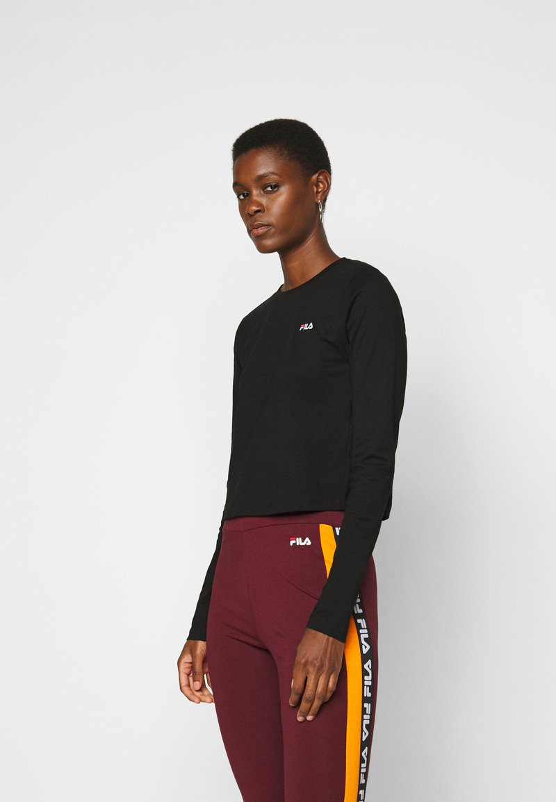 Fila Tall - EAVEN CROPPED LONG SLEEVE - Longsleeve - black