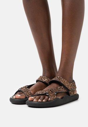 FLAT STRAP  - Sandals - brown
