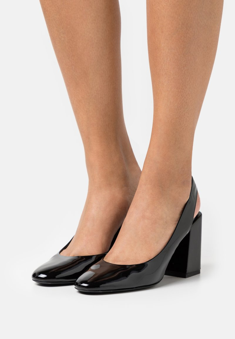 Furla - BLOCK SLING BACK - Classic heels - nero