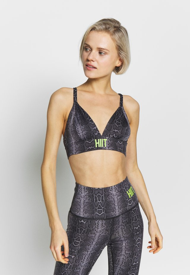 SISKIN PRINT BRA  - Sports bra - grey
