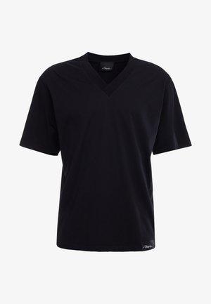 OVERSIZED BOXY VNECK TEE - Basic T-shirt - black