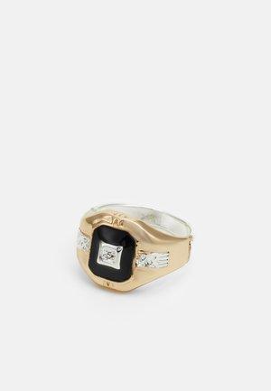 MIXED RECTANGLE SIGNET - Anello - gold-coloured/silver-coloured