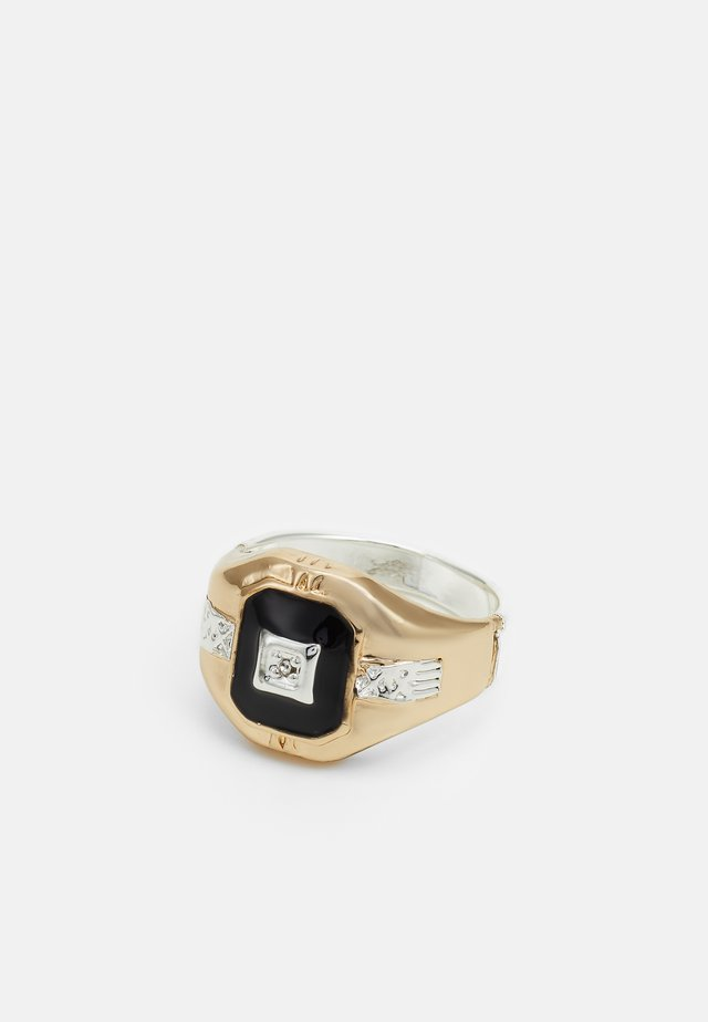MIXED RECTANGLE SIGNET - Ring - gold-coloured/silver-coloured