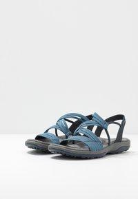 Skechers - REGGAE SLIM - Walking sandals - navy - 4