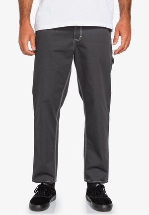 HIGHWATER WORK - Trousers - off black