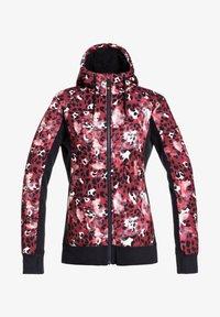 FROST PRINTED - Fleece jacket - oxblood red leopold