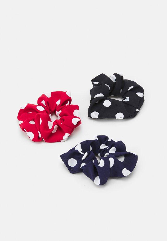 MYRA SCRUNCHIE ZAL 3 PACK - Hårstyling-accessories - navy blazer/red/black