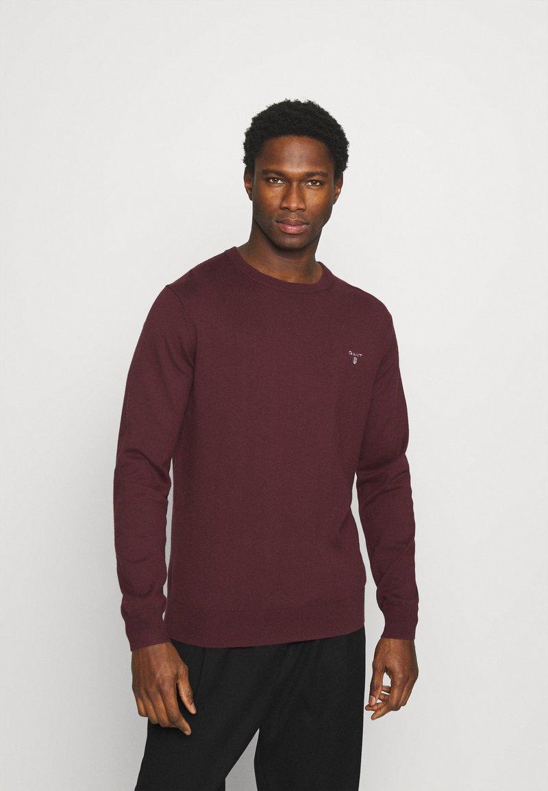 GANT - CREW - Stickad tröja - port red
