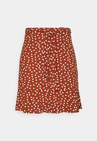Mini skirt - brown/white