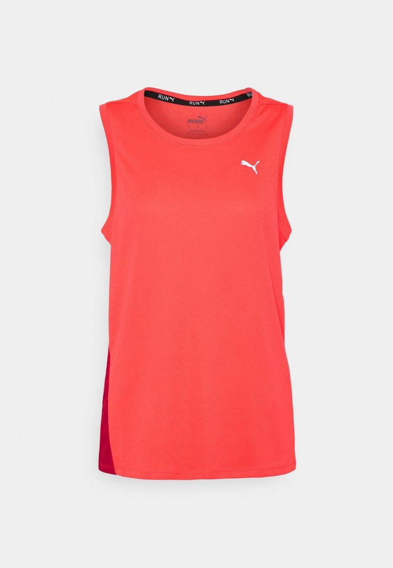 Puma - RUN FAVORITE TANK  - Sports shirt - sunblaze/persian red