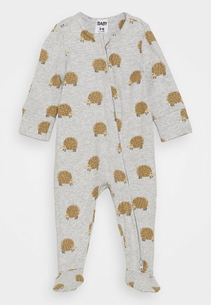 THE LONG SLEEVE ZIP ROMPER UNISEX - Sleep suit - cloud marle