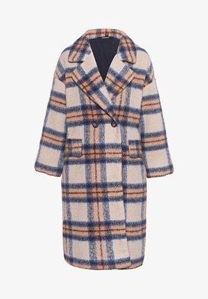 OVERS DROP SHOULDER - Classic coat - camel/blue/brown