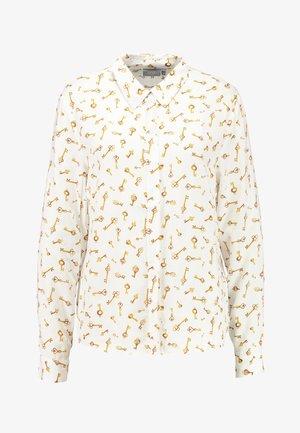 BYFRICHE PRINT - Button-down blouse - off-white