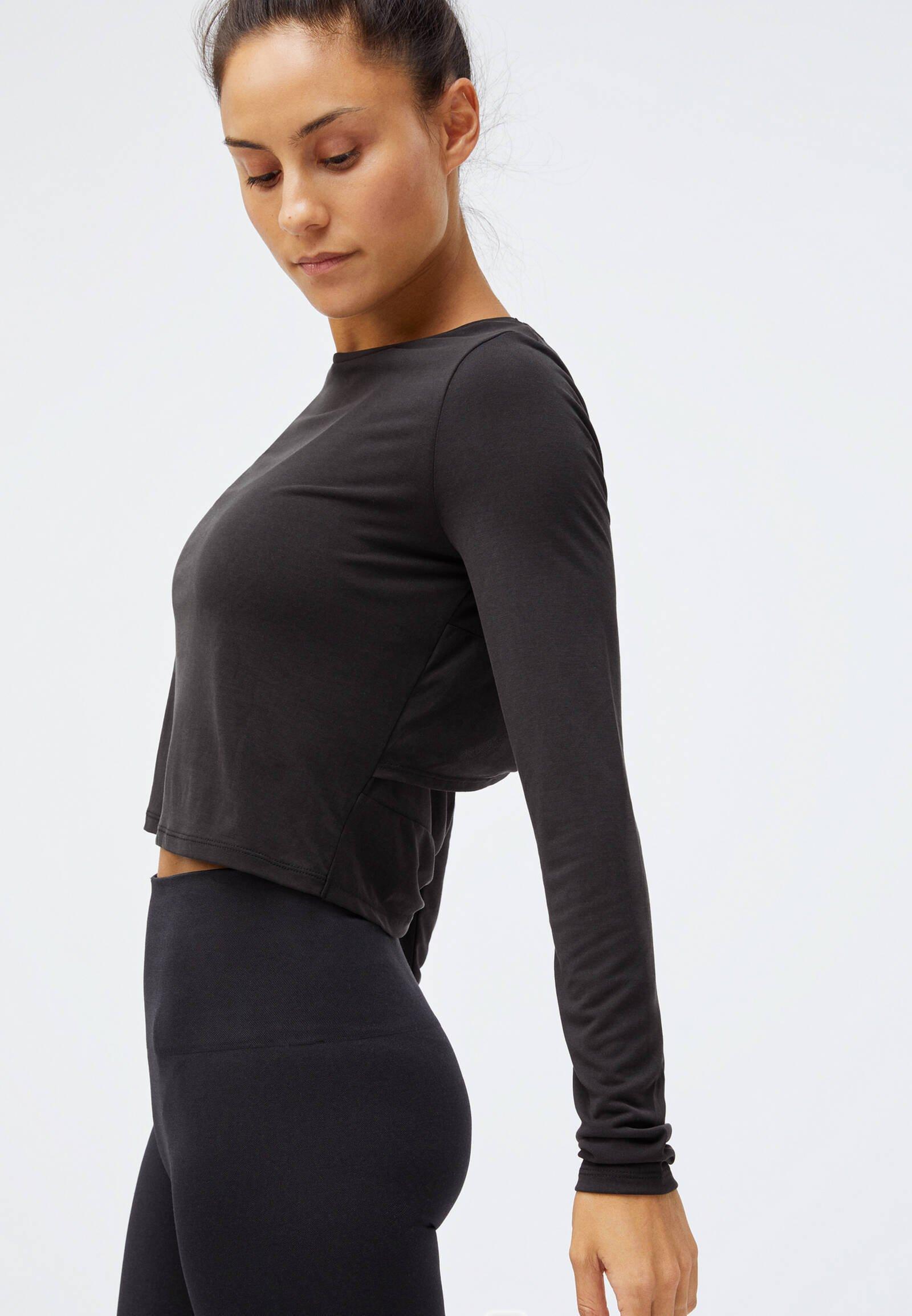 OYSHO Long sleeved top - black 8ju1h