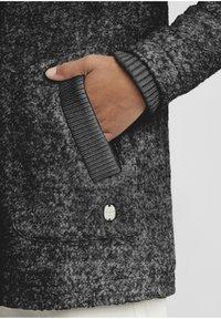 Oxmo - RIEKE - Short coat - dark grey melange - 5