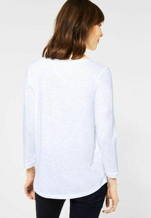 MIT 3/4 ÄRMEL - Long sleeved top - weiß