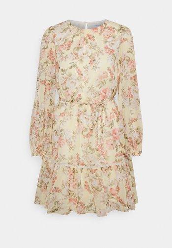 KATIE TIERED SKATER DRESS - Day dress - vintage lemon