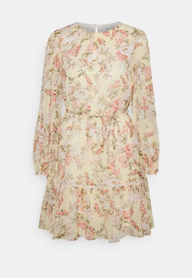 Forever New - KATIE TIERED SKATER DRESS - Robe d'été - vintage lemon