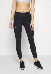 Under Armour - QUALIFIER SPEEDPOCKET PERFORATED ANKLE CROP - Medias - black/reflective - 0