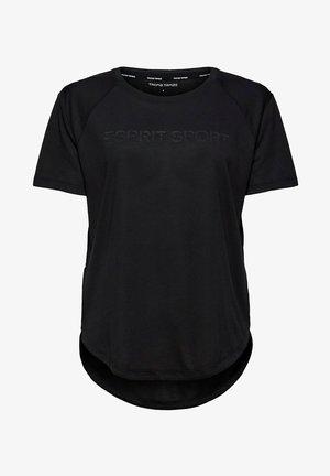 MIT LOGO-PRINT - Print T-shirt - black