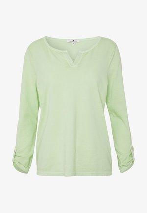 OVERDYE - Top sdlouhým rukávem - light pistachio green