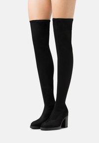 ONLY SHOES - ONLBUBBLE - Boots med høye hæler - black - 0