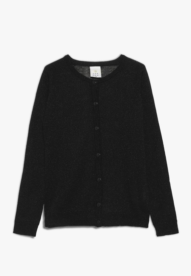 AYA GLITTER CARDIGAN  - Vest - black