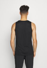 Casall - STRUCTURED TANK - Top - black - 2