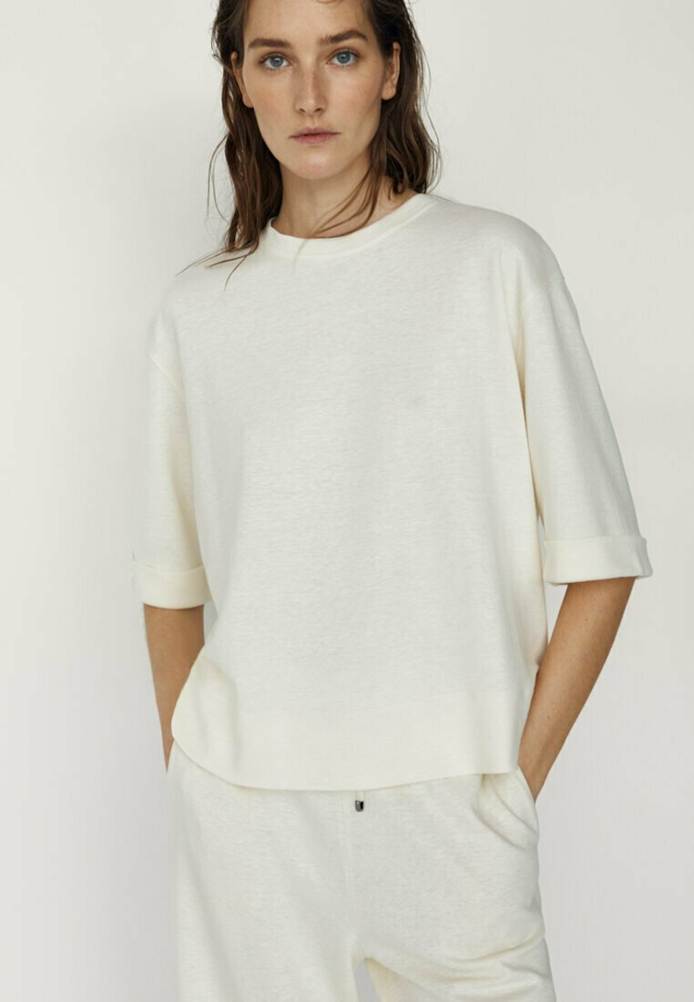 Massimo Dutti - Long sleeved top - white