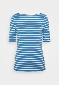 Lauren Ralph Lauren - T-shirt z nadrukiem - captain blue/white - 4