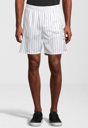 JANI STRIPED - Pantaloncini sportivi - bright white