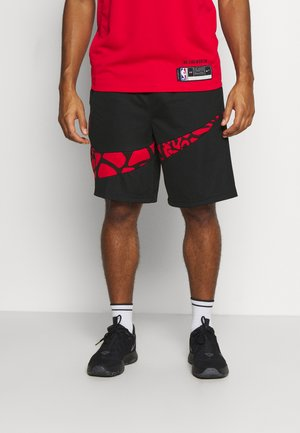 DRY SHORT PRINT - Urheilushortsit - black/university red