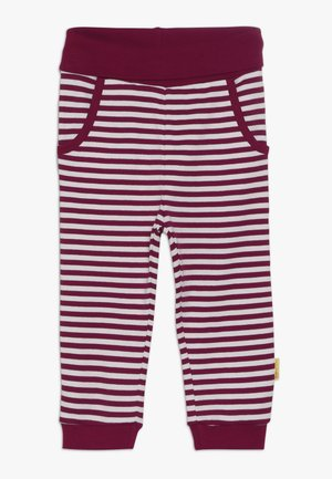 GIRLS STRIPE JOGGER BABY - Trousers - red