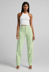Bershka - Straight leg jeans - green - 1